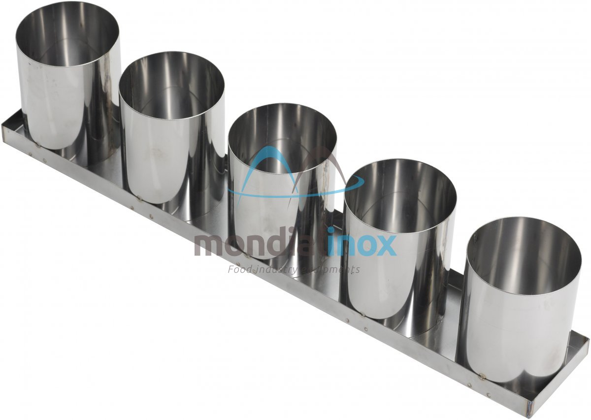 Stainless Steel Baking Moulds 5 Moulds 9 5x12 Other