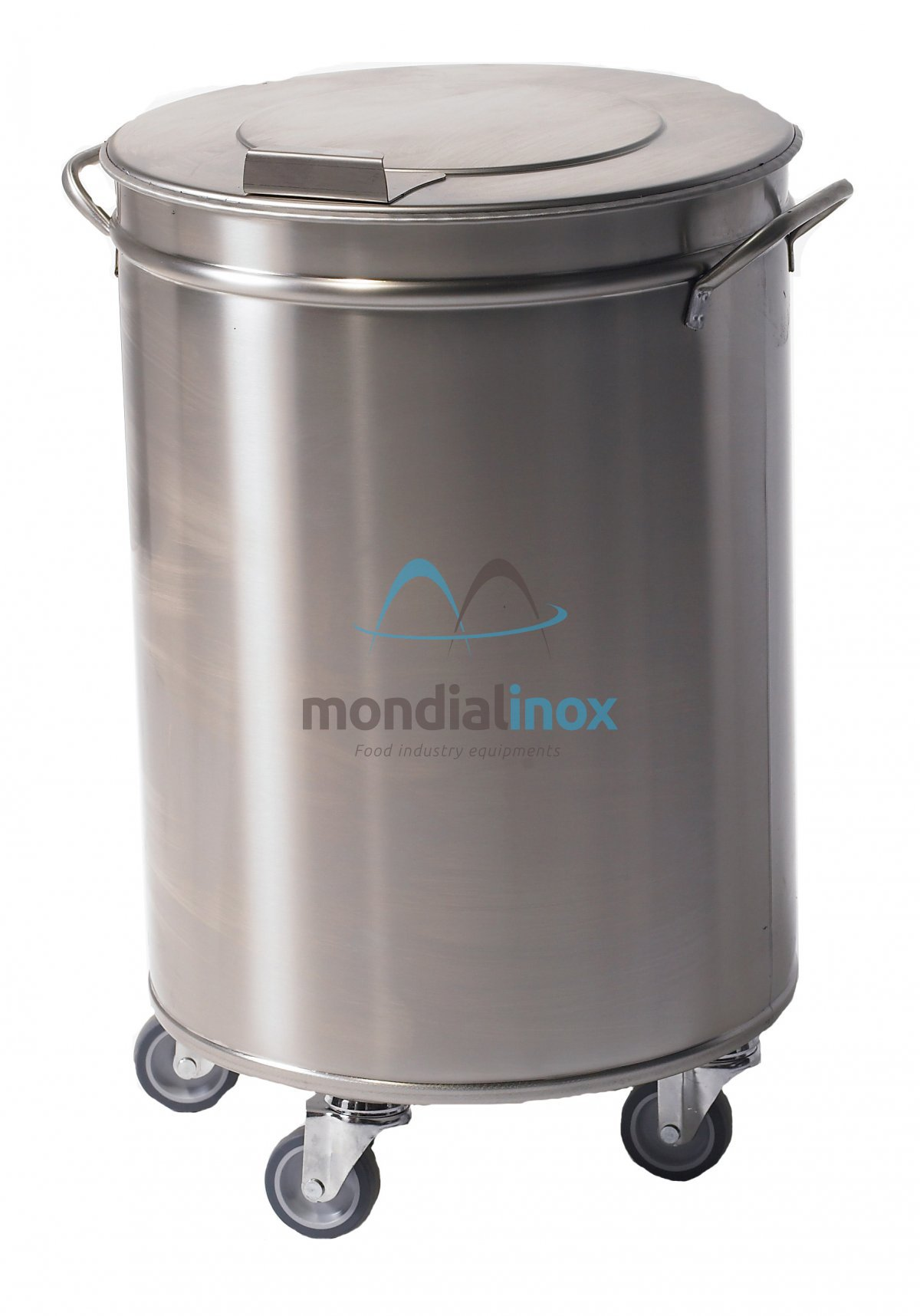 Stainless Steel Bin On Wheels With Pedal Dustbins