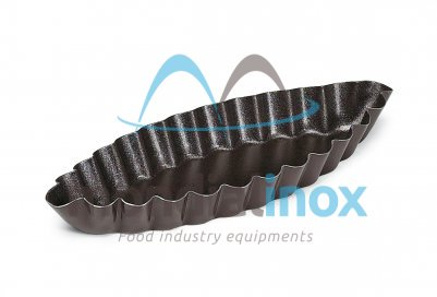 Pleated barquette mould with non-stick coating