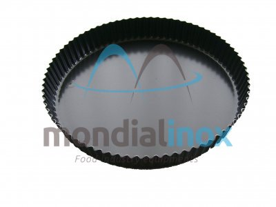 Pie dish with pleated straight edge 3cm