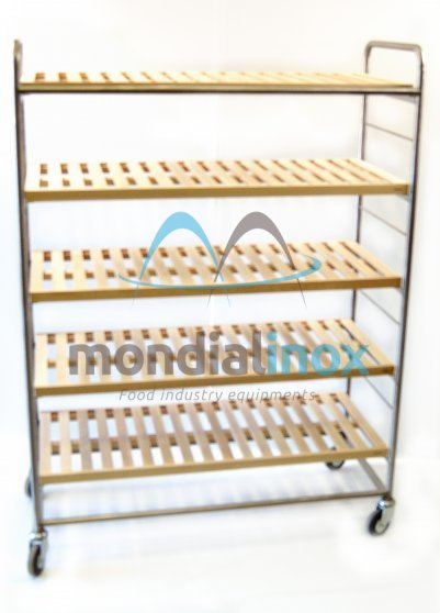 Shelf for tarts double stainless steel with laths