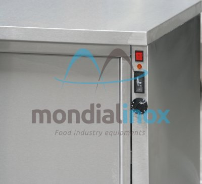 Ventilated heating cupboard on legs stainless steel +30° to +100°