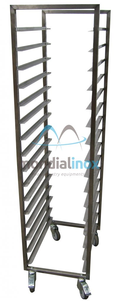 Stainless steel rack trolley hand welded opening 40