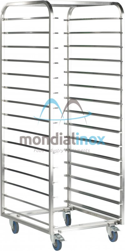 Stainless Steel, Transport Trolleys, standard 11,5 cm between shelves opening 60
