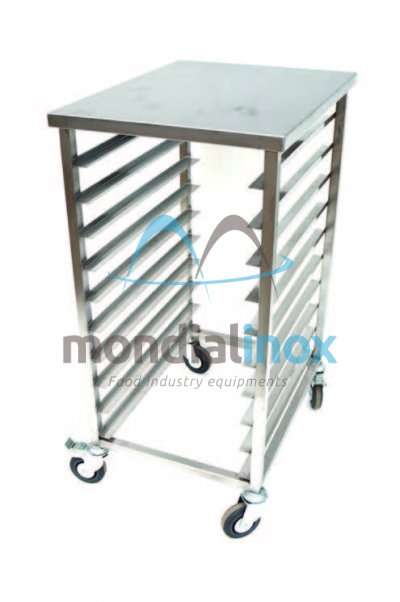 Stainless steel service trolley opening