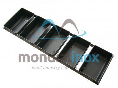 Set of rectangular loaf pans in blue stainsteel