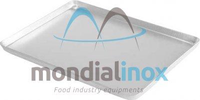 Aluminium plate 60x40cm for freezer 4 edges x2cm solid 20/10