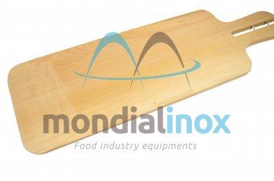 Rectangular oven wooden shovel