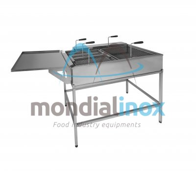 Doughnut fryer with side drainer