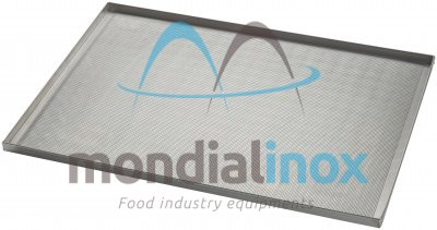 Baking tray, perforated 2 mm, 4 sided, side 90°