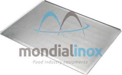Baking tray, perforated 2 mm, 4 sided, side 45°