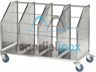 Stainless Steel Sack Trolleys, 2 compartments