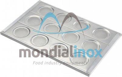 Aluminium Hamburger bun pans, perforated 3mm