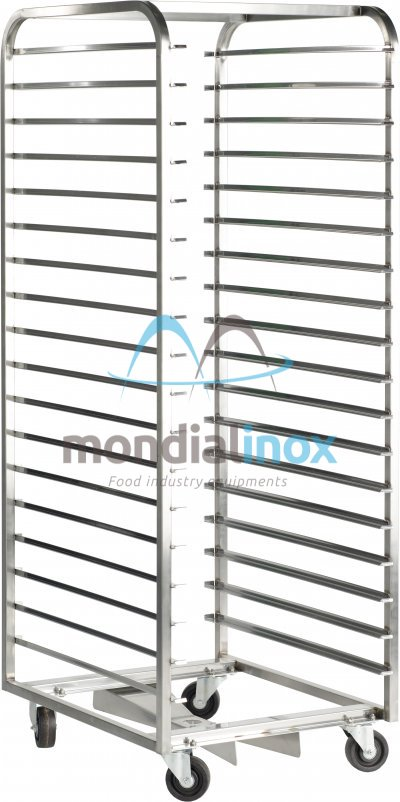 Stainless Steel, Baking Trolleys for Miwe and Rototherm ovens, 14 shelves, 10,9 cm between shelves