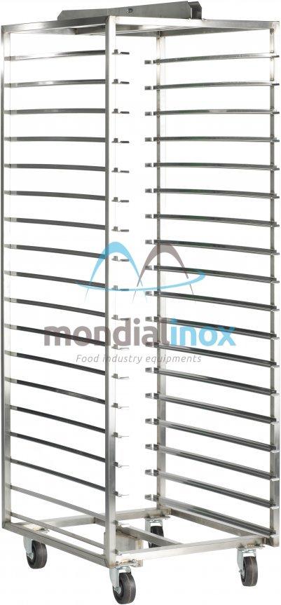 Stainless Steel, Baking Trolleys for Agiv Forni, 14 shelves, 12 cm between shelves