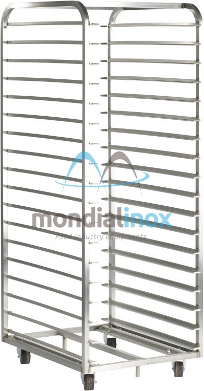 Stainless Steel, Baking Trolleys for Bongard 8,63 ovens, 14 shelves, 11,2 cm between shelves