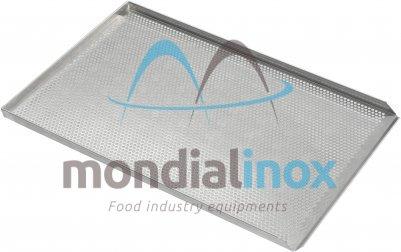 Aluminium bakplaten geperforeerde Ø 5mm, 3x90° + 1x45° 15/10