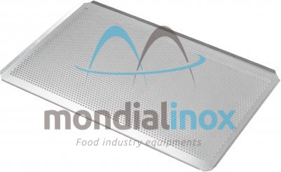 Baking tray, perforated 5 mm, 4 sided, side 45°