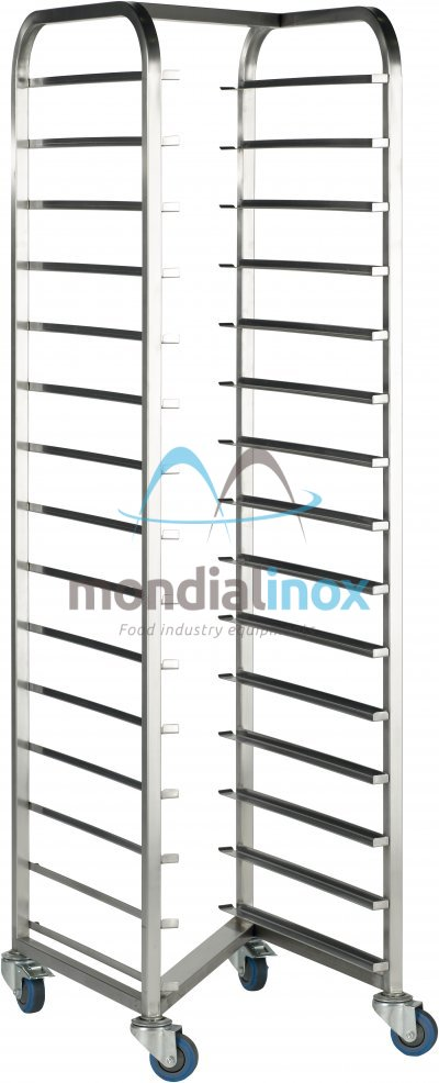 Stainless Steel, Transport Trolleys, Type Z, 11,5 cm between shelves