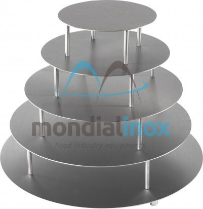 Stainless steel  Cake stands, round plates