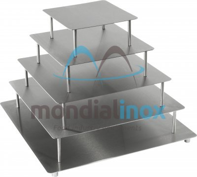 Stainless steel  Cake stands, square plates