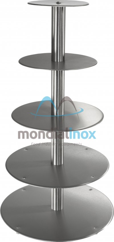 Stainless steel cake stands, Traditional, 5 tiers