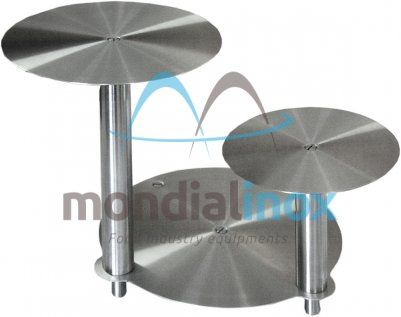 Stainless steel cake stands, Rosette, 3 tiers