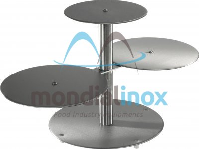 Stainless steel cake stands, Rosette 4 tiers