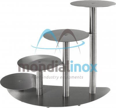 Stainless steel cake stands, Banana 4 tiers