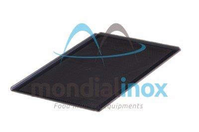 Perforated aluminium plate with Teflon coating 4 edges 45°