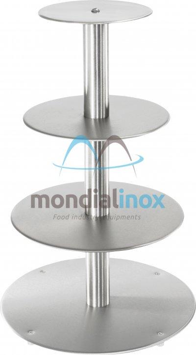 Aluminium display with floors