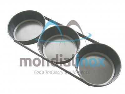 Set 3 gealuminiseerde ronde broodvormen