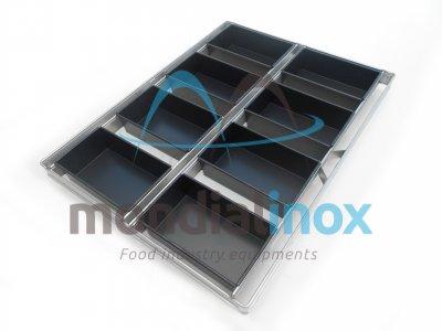 Broodkoppel geteflonneerd voor rotatie oven (kader 60x80cm)