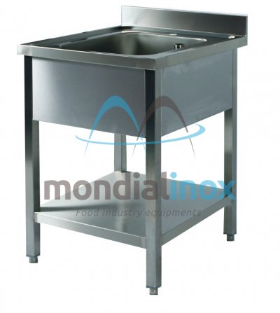 Stainless steel sink budget bin 60x50xH32,5