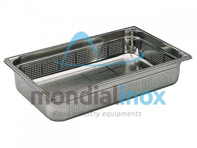 Stainless steel bin gastro GN 1/1 perforated