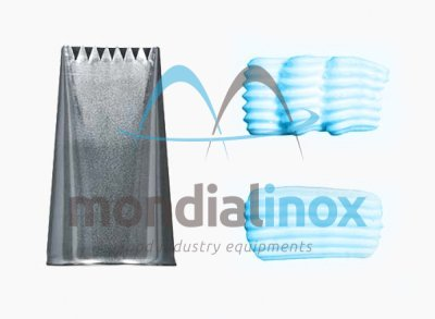 Flat stainless steel nozzle