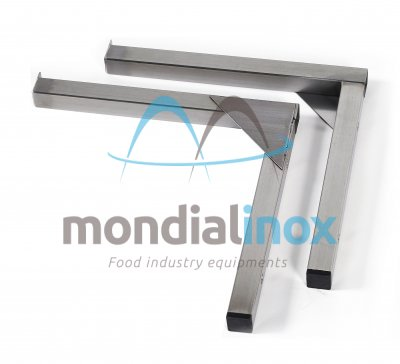 Stainless steel shelf bracket and support fixed