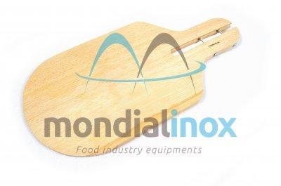 Half-round wooden shovel