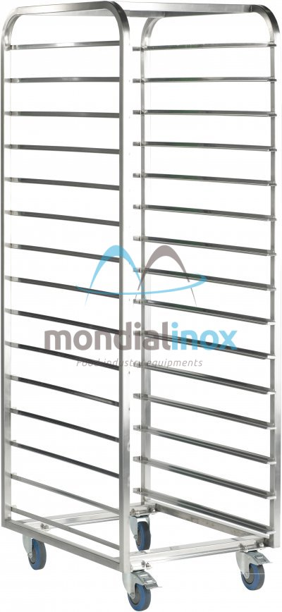 Stainless Steel, Transport Trolleys, standard 11,5 cm between shelves opening 40