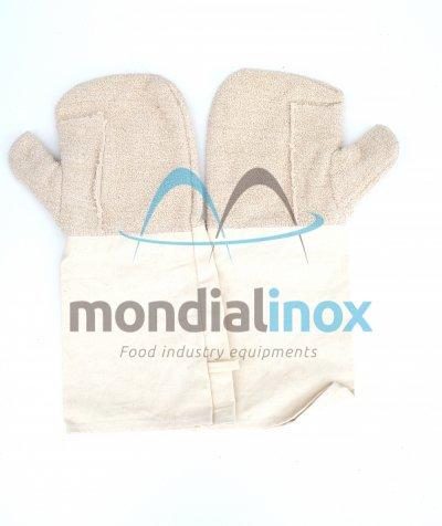Long cotton mitten