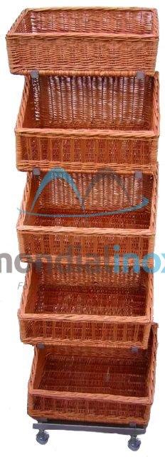 Store shelf 5 floors for basket 58x40cm