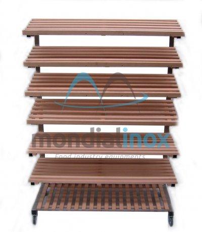 Wooden shelf for shop