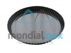 Pie dish with flared pleated edge