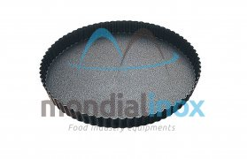 Pie dish with pleated straight edge 3cm, non-stick
