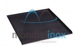 Perforated aluminium plate with Teflon coating 3 edges 3x90°