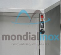 Ventilated heating cupboard on legs stainless steel +30° to
