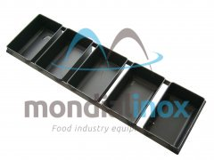 Set of rectangular loaf pans in blue stainsteel