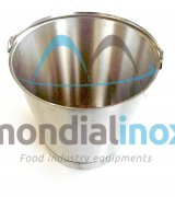 Graduated stainless steel bucket