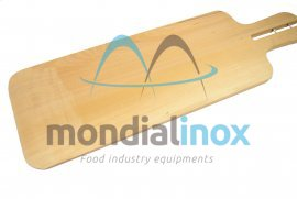 Rectangular oven wooden shovel