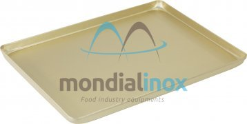Aluminium pressed display tray - anodised champagne
